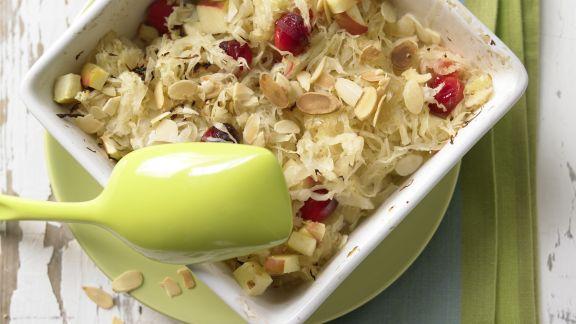Rezept: Sauerkraut-Apfel-Gratin