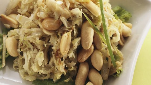 Rezept: Sauerkraut-Bohnen-Salat
