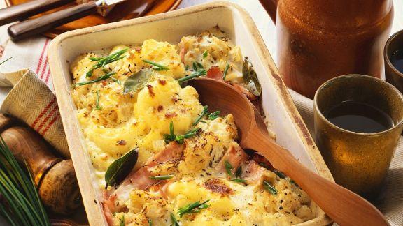 Rezept: Sauerkraut-Kartoffel-Auflauf mit Kasseler