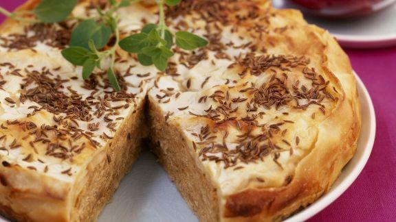 Rezept: Sauerkraut-Kümmel-Paste im Filoteig