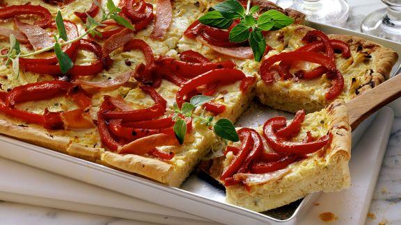Rezept: Sauerkrautkuchen mit Paprika
