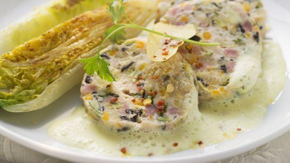 Rezept: Saumagen nach Pfälzer Art mit Zitronensauce und gebratenem Salat