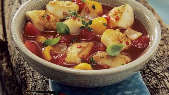 Rezept: Scharfe Fischsuppe auf andalusische Art