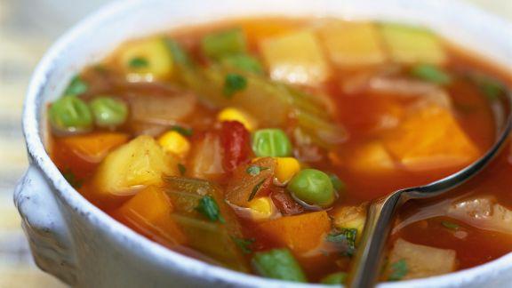 Rezept: Scharfe Gemüsesuppe auf portugiesische Art