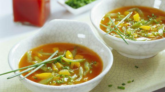 Rezept: Scharfe Gurken-Paprika-Suppe