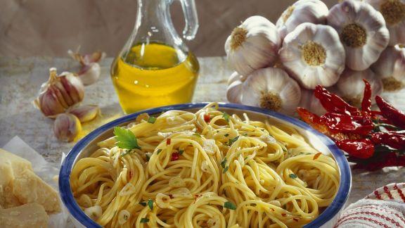 Rezept: Scharfe Spaghetti aglio e olio