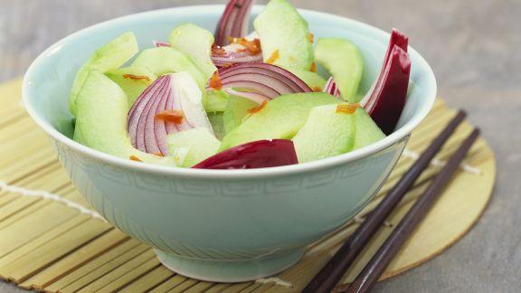 Rezept: Scharfer Gurkensalat