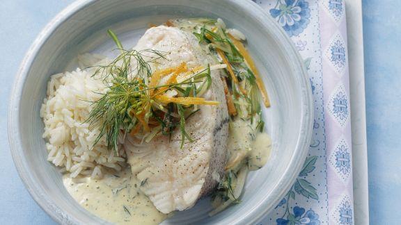 Rezept: Schellfisch mit Dill-Senf-Sauce