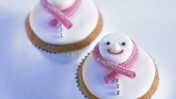 Rezept: Schneemann-Cupcakes