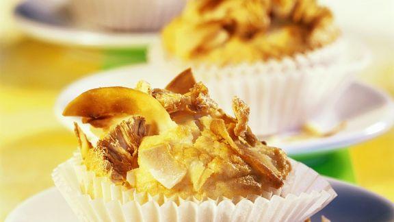 Rezept: Schnelle Ananasmuffins mit Kokos