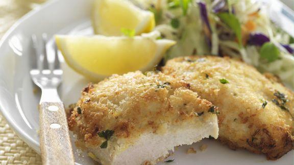 Rezept: Schnitzel aus Hähnchen mit Krautsalat