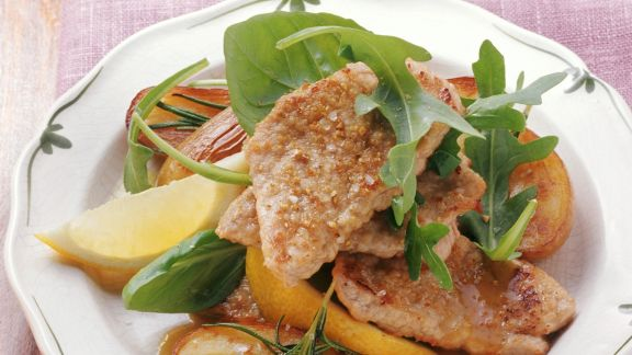 Rezept: Schnitzel mit Zitronensoße auf italienische Art
