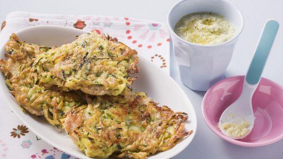 Rezept: Schnitzel vom Rind mit Zucchinihaube