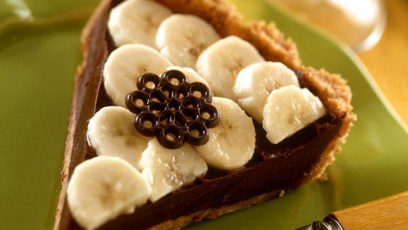 Rezept: Schoko-Bananentarte