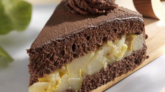 Rezept: Schoko-Birnen-Torte