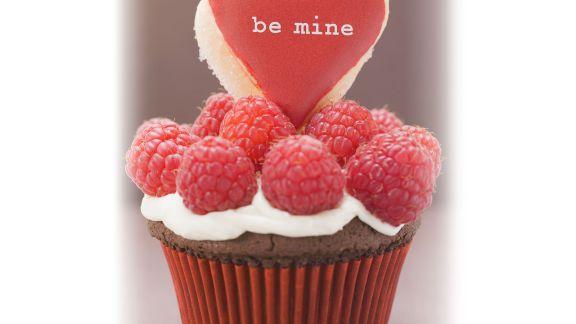Rezept: Schoko-Cupcake mit Himbeeren