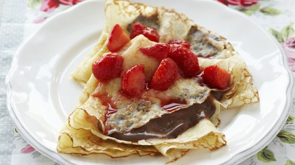 Rezept: Schoko-Erdbeer-Crepes