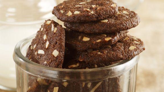 Rezept: Schoko-Mandel-Taler mit Kokos
