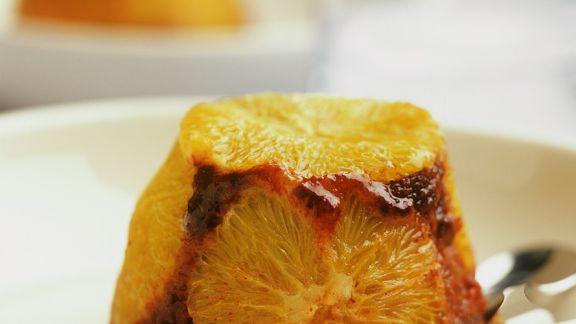 Rezept: Schoko-Pudding mit Orangen