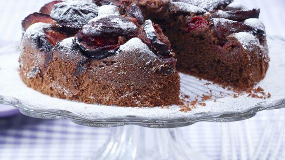 Rezept: Schoko-Zwetschgen-Kuchen