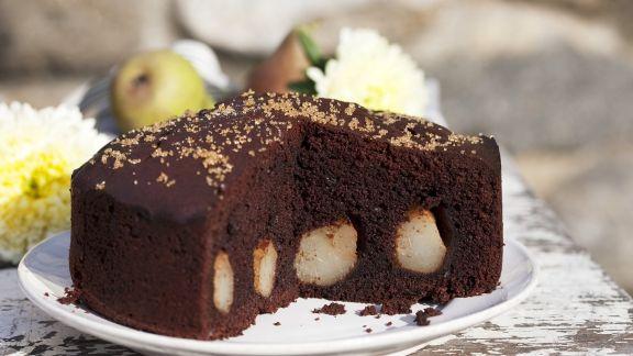 Rezept: Schokoladen-Birnen-Kuchen
