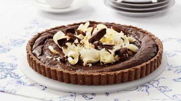 Rezept: Schokoladen-Haselnuss-Tarte