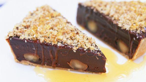 Rezept: Schokoladen-Macadamia-Tarte