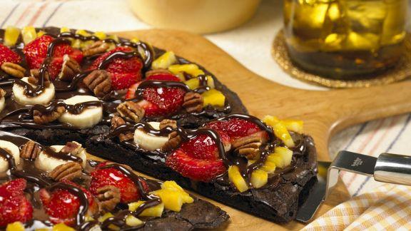 Rezept: Schokoladenpizza mit Obst