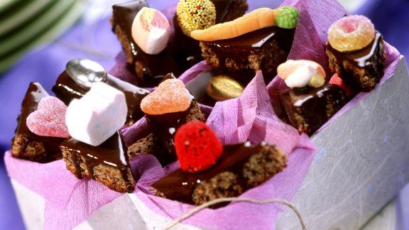 Rezept: Schokoladenplätzchen mit Zuckerfiguren