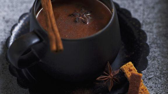 Rezept: Schokoladensuppe mit Gewürzen
