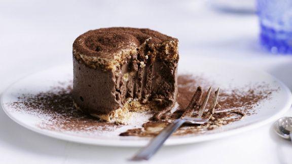 Rezept: Schokoladentörtchen nach französischer Art (Dacquoise)