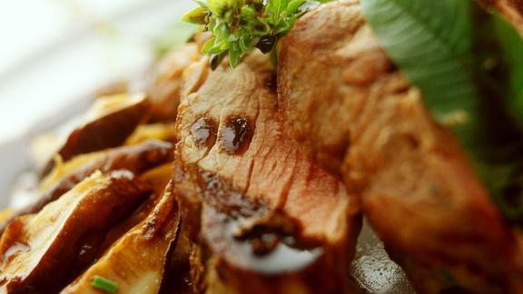 Rezept: Schweinefilet in Biersauce