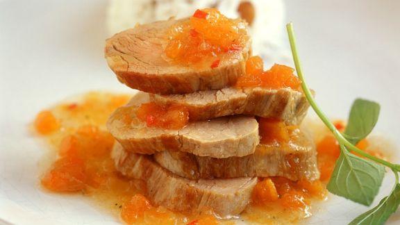 Rezept: Schweinefilet mit Fruchtsauce