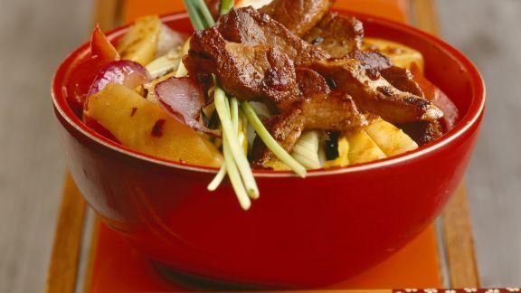 Rezept: Schweinefilet mit Gemüse