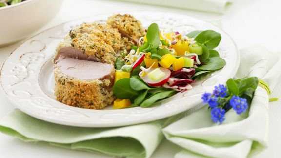 Rezept: Schweinefilet mit Kräuterkruste