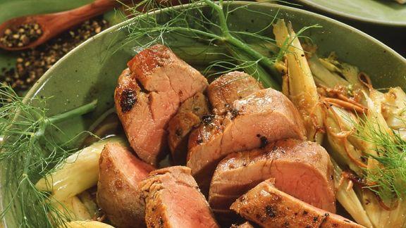 Rezept: Schweinefilet mit pikantem Fenchel