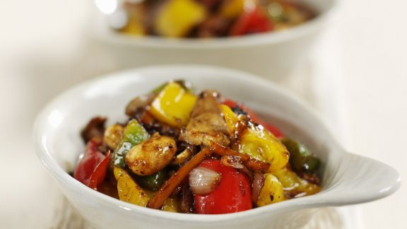 Rezept: Schweinefleisch mit Gemüse aus dem Wok