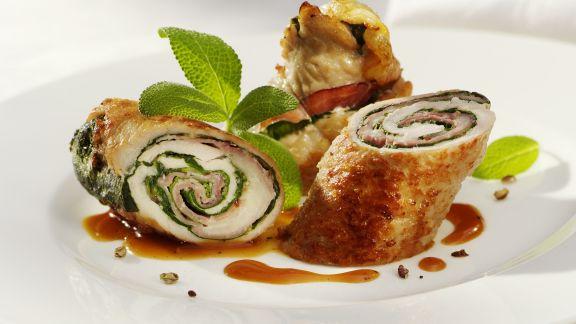 Rezept: Schweinefleisch-Salbei-Rouladen
