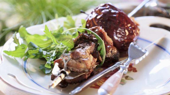 Rezept: Schweinefleischspieß vom Grill