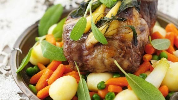 Rezept: Schweinekamm mit Gemüse