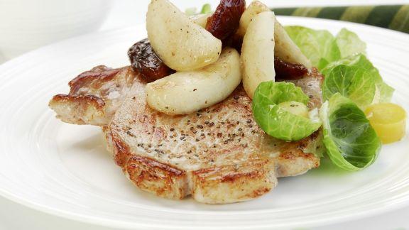 Rezept: Schweinekotelett mit kleinen Kartoffeln