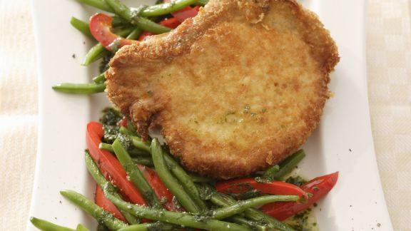 Rezept: Schweinekotelett mit Parmesanpanade