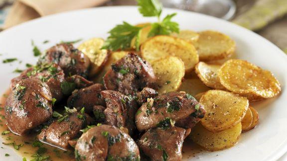 Rezept: Schweinenieren mit Kartoffelbeilage