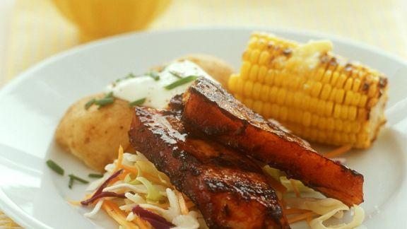 Rezept: Schweinerippchen mit Gemüse