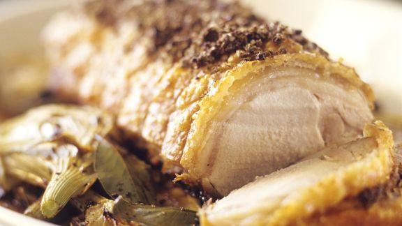 Rezept: Schweinerollbraten mit Fenchel