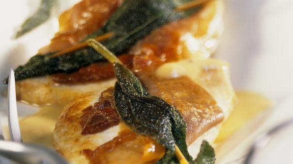 Rezept: Schwertfisch im Saltimbocca-Stil