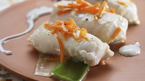 Rezept: Seehecht im Gemüsesud (Nasello con salsa delicata)