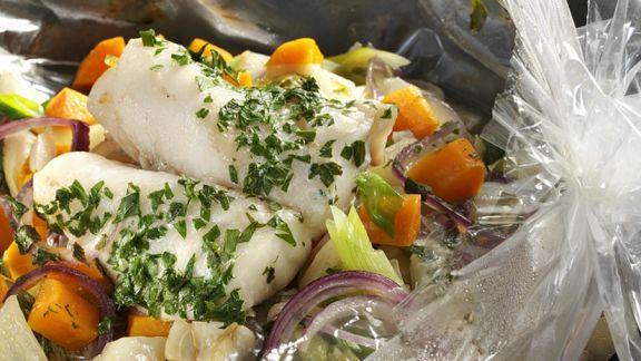 Rezept: Seelachs mit Gemüse