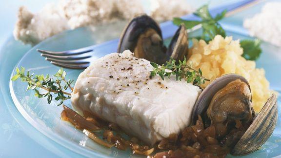 Rezept: Seelachs mit Muschel
