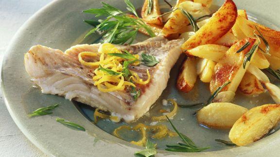 Rezept: Seelachs und Kartoffeln mit Knoblauch